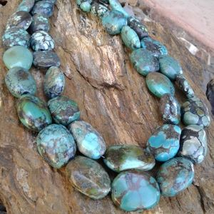 Jewelry - Sterling Silver Turquoise Chunky NECKLACE